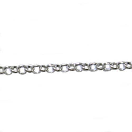 コモキン 925シルバーチェーン 3-14 コロコロアズキ 0.9mm