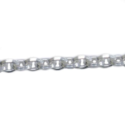 コモキン 925シルバーチェーン 5-16 三面アズキ 1.5mm