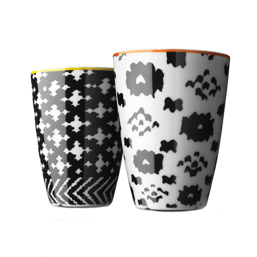MENU Thermo Cup サーモカップ ノルディックウール M オレンジ/イエロー2個セット