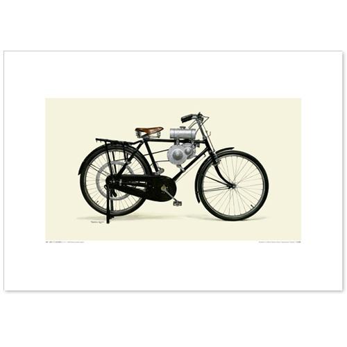 国産モーターサイクル図版(A2愛蔵版)1946 Honda 自転車用補助エンジン