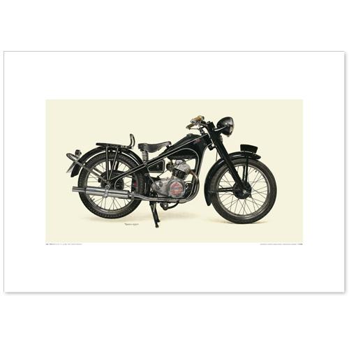 国産モーターサイクル図版(A2愛蔵版)1951 Honda Dream E