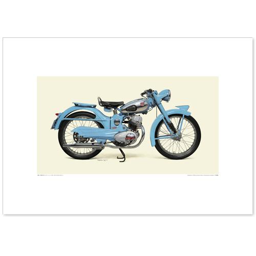 国産モーターサイクル図版(A2愛蔵版)1953 Honda Benly J