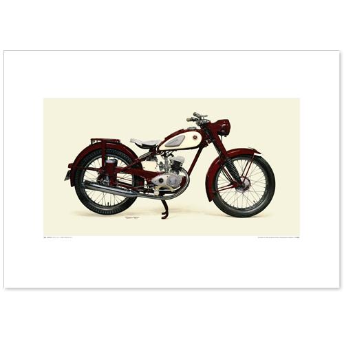 国産モーターサイクル図版(A2愛蔵版)1955 YAMAHA YA-1