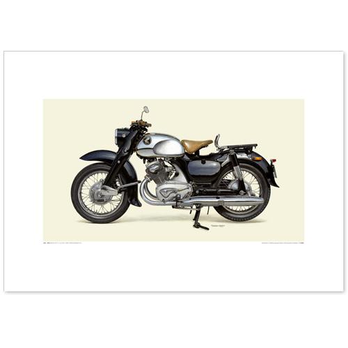 国産モーターサイクル図版(A2愛蔵版)1957 Honda Dream C70