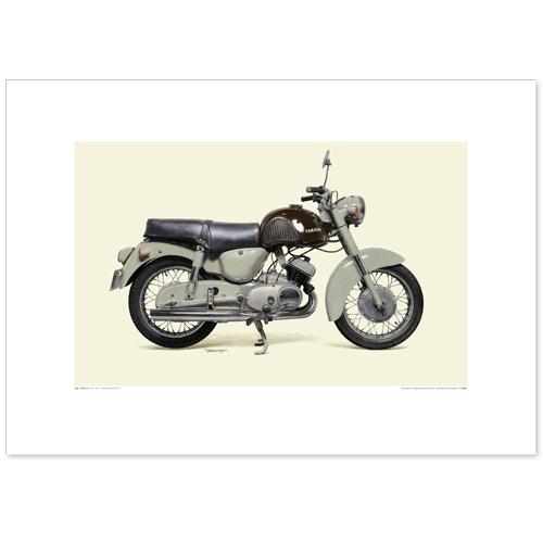 国産モーターサイクル図版(A2愛蔵版)1958 YAMAHA YD-1
