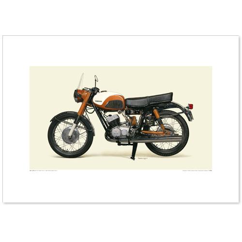国産モーターサイクル図版(A2愛蔵版)1959 YAMAHA 250S(YDS-1)