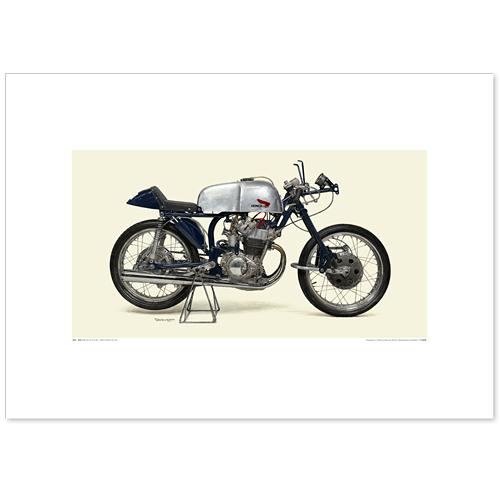 国産モーターサイクル図版(A2愛蔵版)1959 Honda RC142