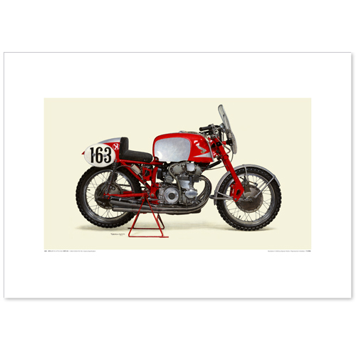 国産モーターサイクル図版(A2愛蔵版)1959 Honda RC160-Asama specification