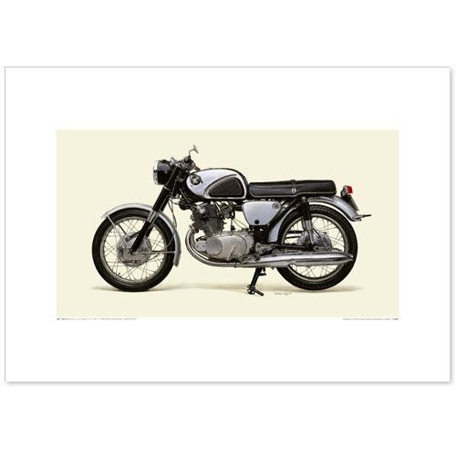 国産モーターサイクル図版(A2愛蔵版)1960 Honda Dream CB72