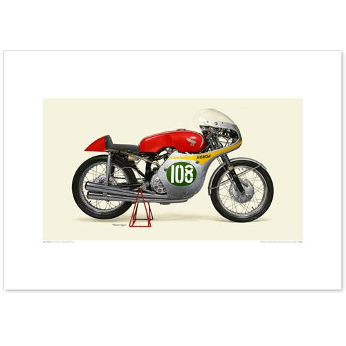 国産モーターサイクル図版(A2愛蔵版)1960 Honda RC161