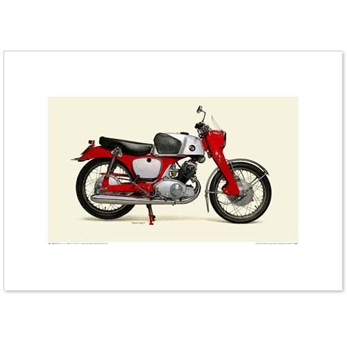 国産モーターサイクル図版(A2愛蔵版)1960 Honda CB92 Super Sport