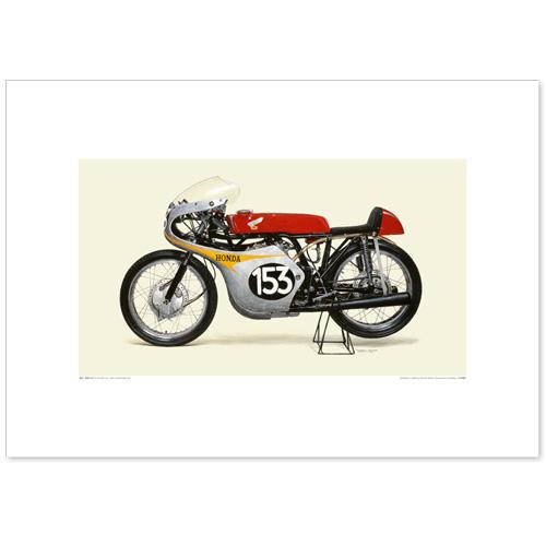 国産モーターサイクル図版(A2愛蔵版)1961 Honda 2RC143