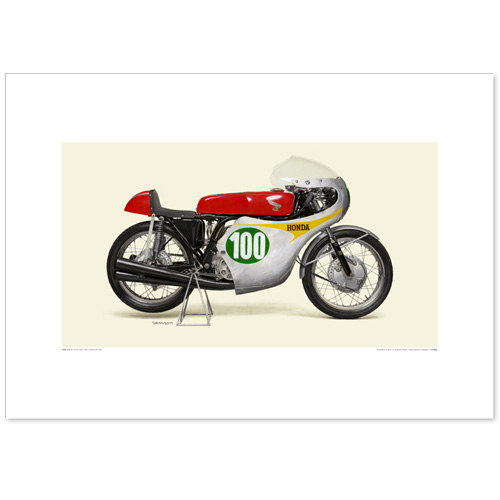 国産モーターサイクル図版(A2愛蔵版)1961 Honda RC162