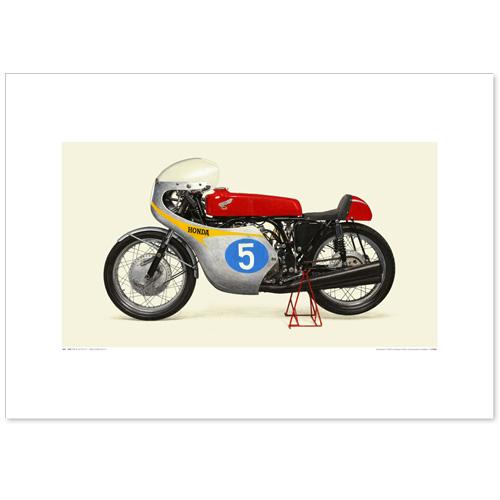 国産モーターサイクル図版(A2愛蔵版)1962 Honda RC171