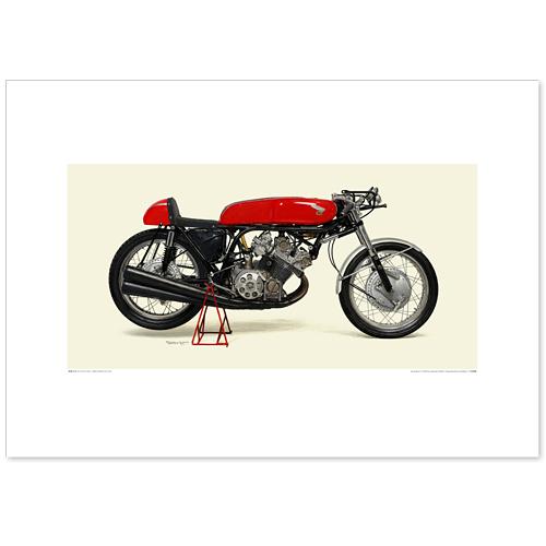 国産モーターサイクル図版(A2愛蔵版)1963 Honda RC164
