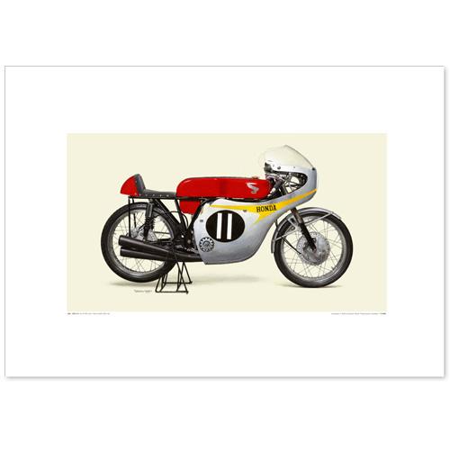 国産モーターサイクル図版(A2愛蔵版)1964 Honda 2RC146