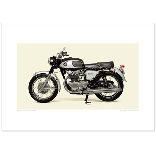 国産モーターサイクル図版(A2愛蔵版)1965 Honda Dream CB450