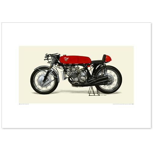 国産モーターサイクル図版(A2愛蔵版)1966-67 Honda RC166