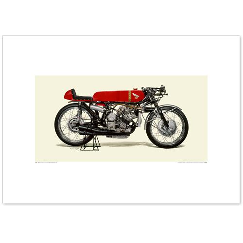 国産モーターサイクル図版(A2愛蔵版)1966 Honda RC149