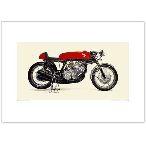 国産モーターサイクル図版(A2愛蔵版)1966 Honda RC181