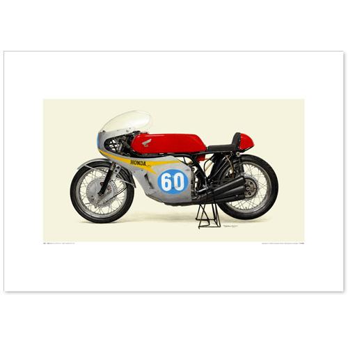 国産モーターサイクル図版(A2愛蔵版)1967 Honda RC174