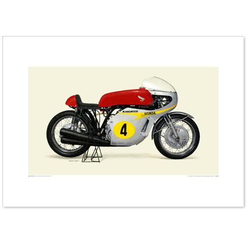 国産モーターサイクル図版(A2愛蔵版)1967 Honda 2RC181