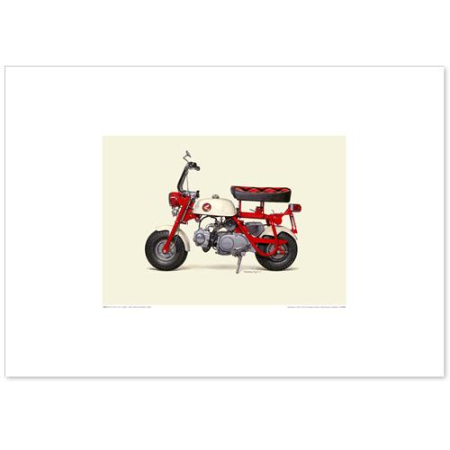 国産モーターサイクル図版(A2愛蔵版)1967 Honda Monkey Z50M