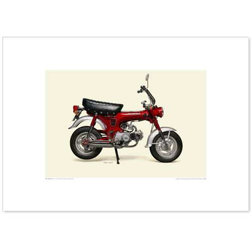 国産モーターサイクル図版(A2愛蔵版)1969 Dax Honda ST50Z