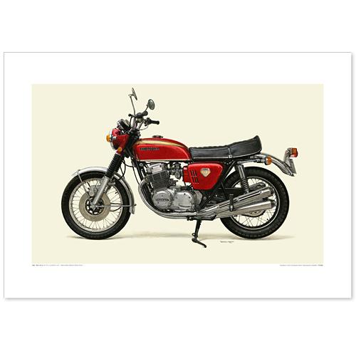 国産モーターサイクル図版(A2愛蔵版)1969 Honda Dream CB750 Four(K0)