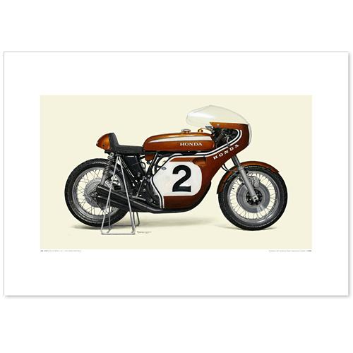 国産モーターサイクル図版(A2愛蔵版)1970 Honda CB750 Racer