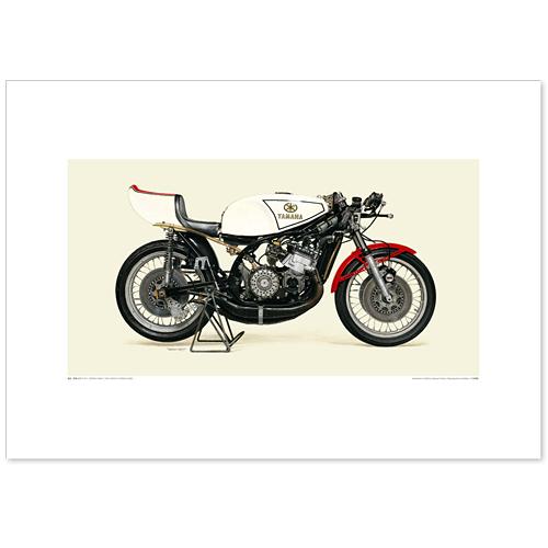 国産モーターサイクル図版(A2愛蔵版)1973 YAMAHA YZR500(OW20)