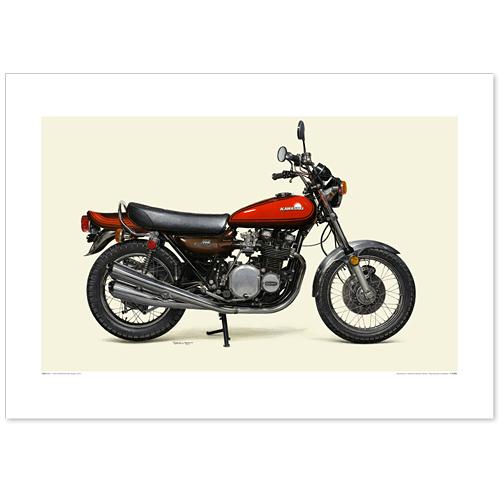 国産モーターサイクル図版(A2愛蔵版)1973 KAWASAKI 900 Super4 / Z1