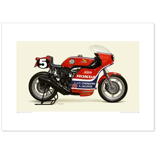 国産モーターサイクル図版(A2愛蔵版)1976 Honda RCB1000