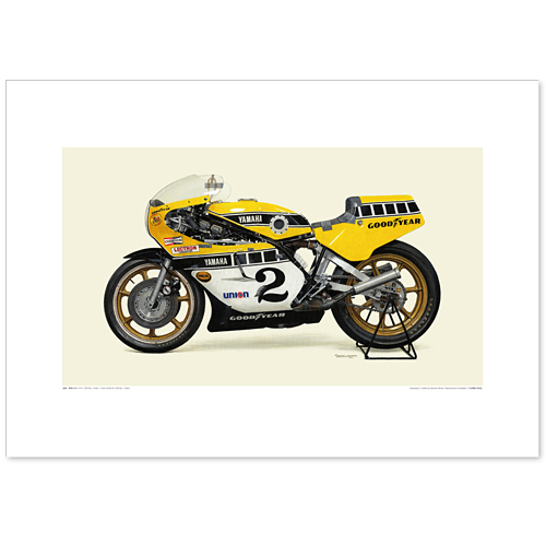国産モーターサイクル図版(A2愛蔵版)1978 YAMAHA YZR750(OW31)