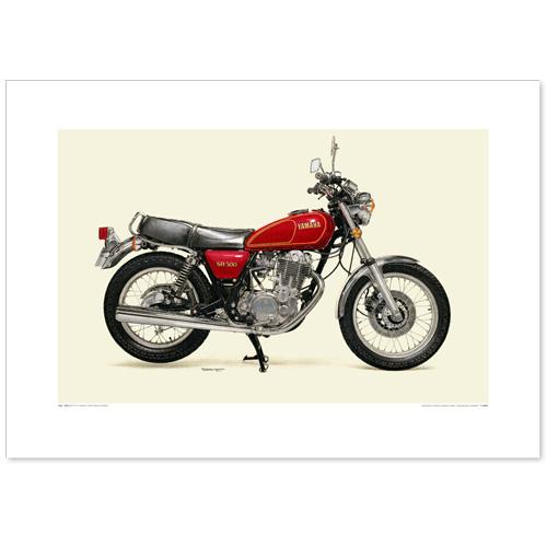国産モーターサイクル図版(A2愛蔵版)1978  YAMAHA  SR500