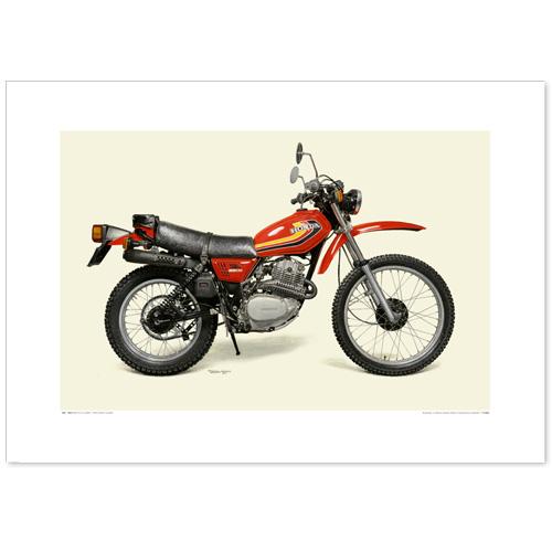 国産モーターサイクル図版(A2愛蔵版)1978 Honda XL250S
