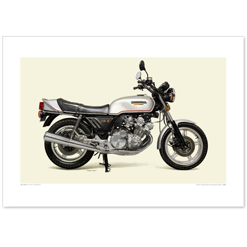 国産モーターサイクル図版(A2愛蔵版)1979 Honda CBX