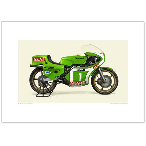 国産モーターサイクル図版(A2愛蔵版)1979 KAWASAKI KR250