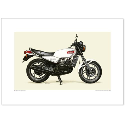 国産モーターサイクル図版(A2愛蔵版)1980 YAMAHA RZ250