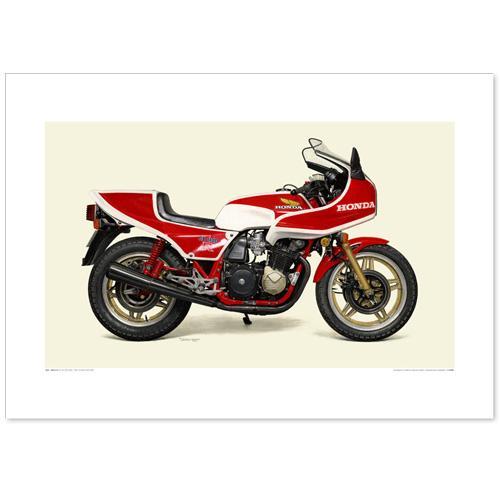 国産モーターサイクル図版(A2愛蔵版)1981 Honda CB1100RB