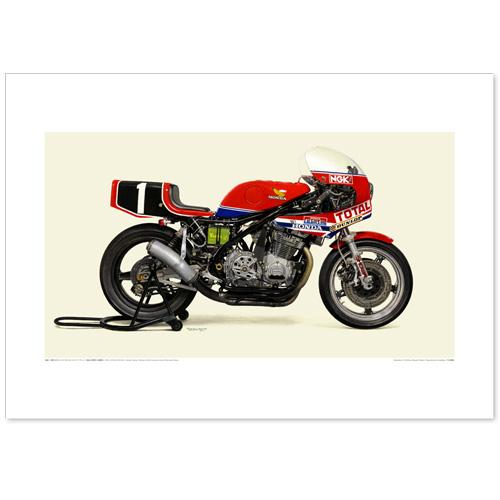 国産モーターサイクル図版(A2愛蔵版)1981 Honda RS1000 Honda France