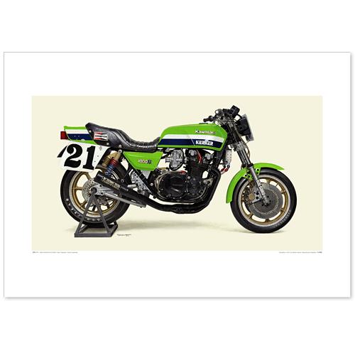 国産モーターサイクル図版(A2愛蔵版)1982 Kawasaki KZ1000R1 / Kerker