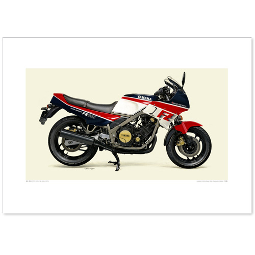 国産モーターサイクル図版(A2愛蔵版)1985 YAMAHA FZ750
