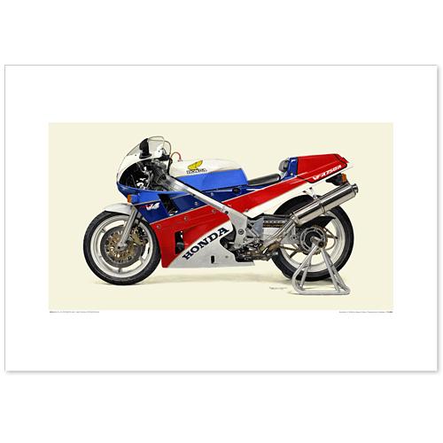 国産モーターサイクル図版(A2愛蔵版)1987 Honda VFR750R/RC30