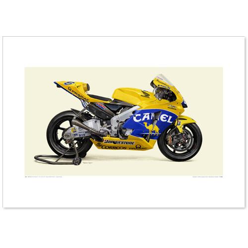 国産モーターサイクル図版(A2愛蔵版)2004 Honda RC211V Camel Honda