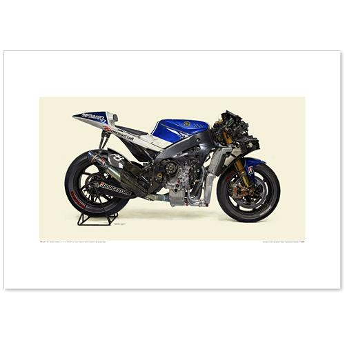 国産モーターサイクル図版(A2愛蔵版)2010 YAMAHA YZR-M1(OWS9)