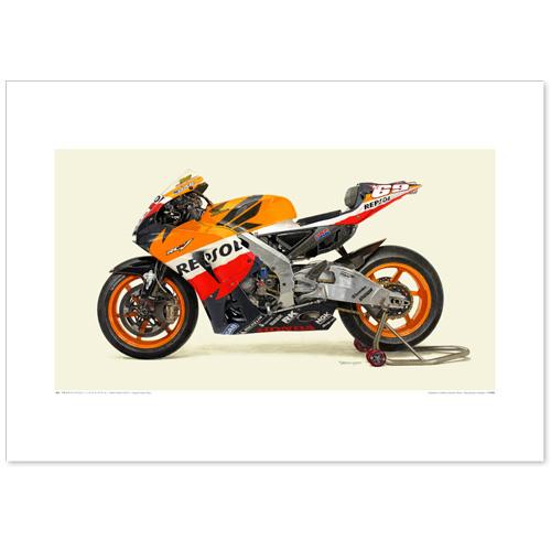 国産モーターサイクル図版(A2愛蔵版)2011 Honda RC212V Repsol Honda