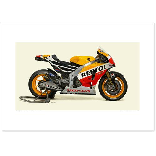 国産モーターサイクル図版(A2愛蔵版)2013 Honda RC213V Repsol Honda