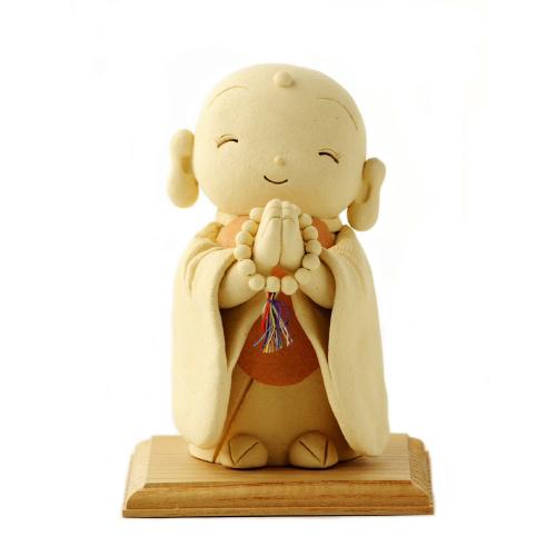 仏像ワールド お地蔵さん - ほほえみ 荒木忍陶芸作品