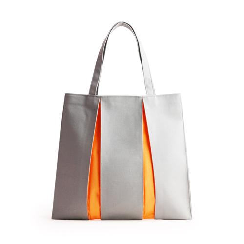 光章 Canvas ougi3 トートバッグ MH ライトグレー×オレンジ